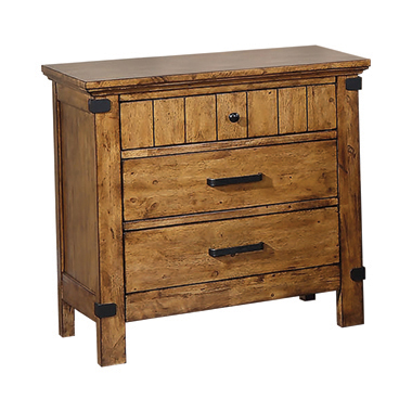 Brenner 3-drawer Night Stand Rustic Honey