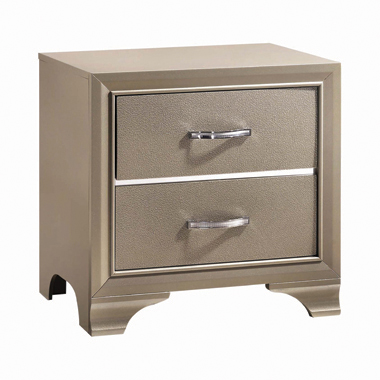 Beaumont 2-drawer Rectangular Nightstand Champagne