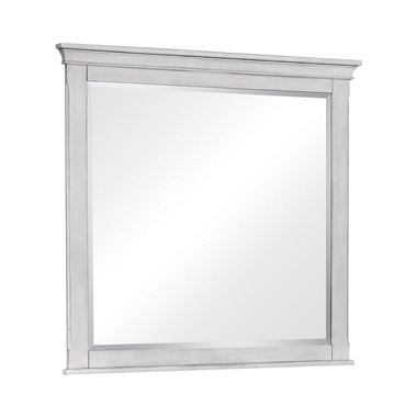 Franco Rectangular Mirror Antique White
