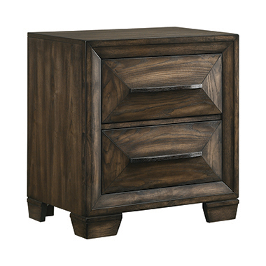 Preston 2-drawer Nightstand Rustic Chestnut