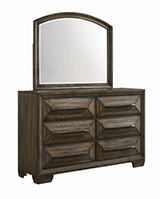Preston 6-drawer Dresser Rustic Chestnut