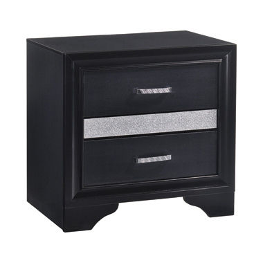 Miranda 2-drawer Nightstand Tray Black