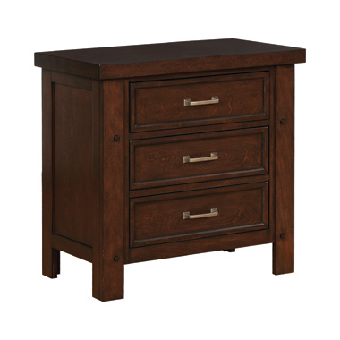 Barstow 3-drawer Rectangular Nightstand Pinot Noir