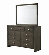 Serenity 9-drawer Dresser Mod Grey