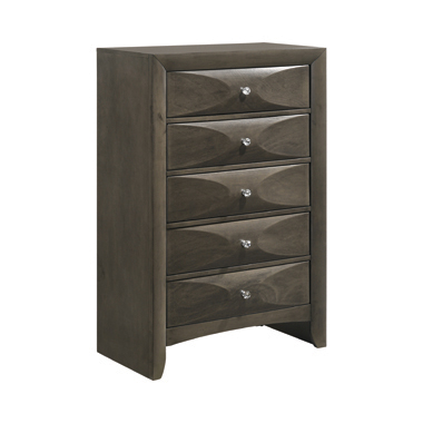 Salano 5-drawer Rectangular Chest Mod Grey