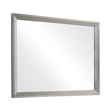 Ramon Dresser Mirror Metallic Sterling
