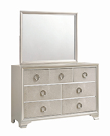 Salford 7-drawer Dresser Metallic Sterling