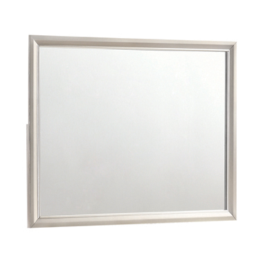 Salford Rectangular Mirror Metallic Sterling