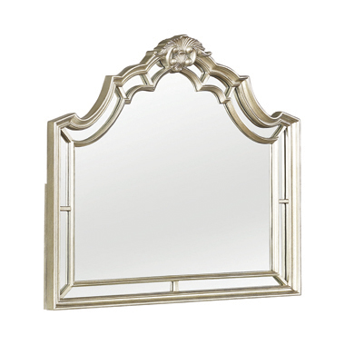 Heidi Arched Mirror Metallic Platinum