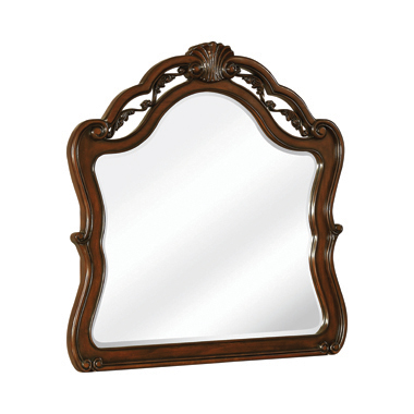 Exeter Arched Dresser Mirror Dark Burl