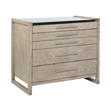 Smithson 5-drawer Rectangular Floating Chest Grey Oak