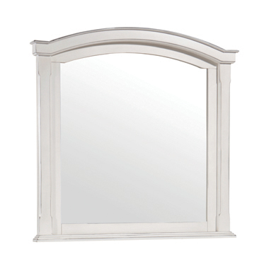 Carolina Arched Mirror Antique White