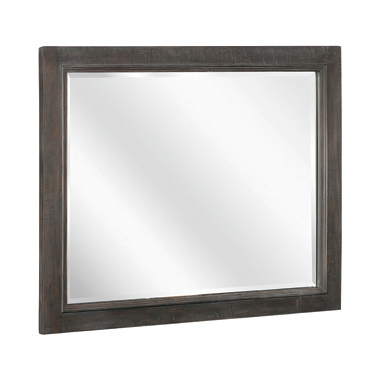 Atascadero Rectangular Mirror Weathered Carbon