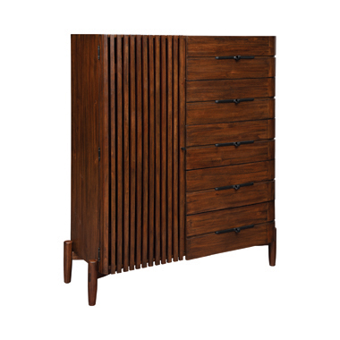 San Mateo 5-drawer Door Chest Desert Teak