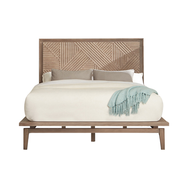 Vanowen Queen Floating-Base Platform Bed Sandstone