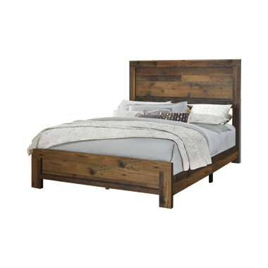 Sidney Twin Panel Bed Rustic Pine