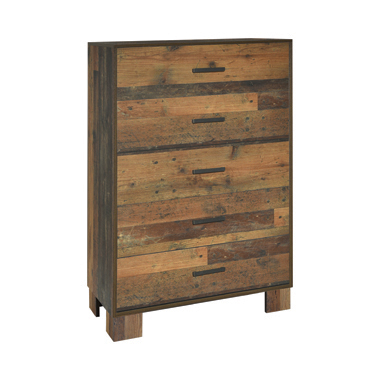 Sidney 5-drawer Chest Rustic Pine