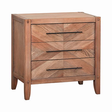 Tawny 3-drawer Nightstand White Washed Natural