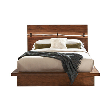 Winslow Queen Bed Smokey Walnut and Coffee Bean