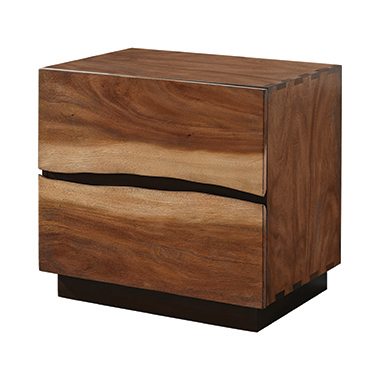 Winslow 2-drawer Nightstand Smokey Walnut and Coffee Bean