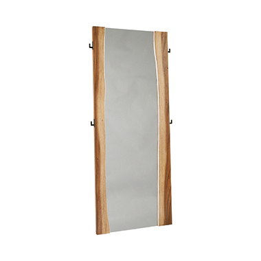 Winslow Standing Mirror Smokey Walnut and Coffee Bean
