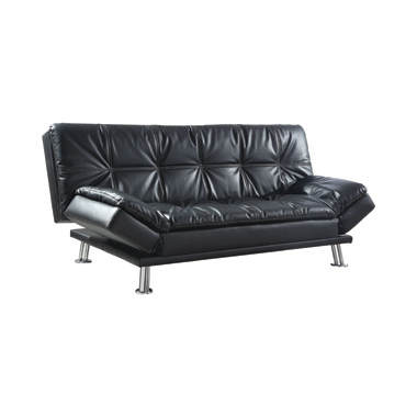 Dilleston Tufted Back Upholstered Sofa Bed Black