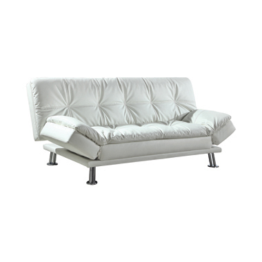 Dilleston Tufted Back Upholstered Sofa Bed White