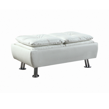 Dilleston Storage Ottoman with Removable Trays White