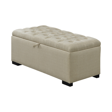 Camille Upholstered Storage Bench Cream