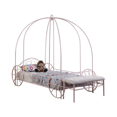 Massi Twin Canopy Bed Powder Pink