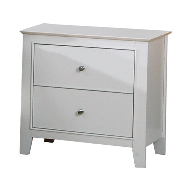 Selena 2-drawer Nightstand White