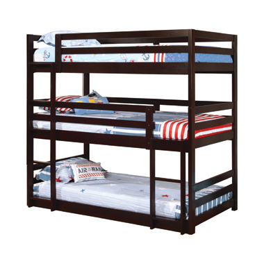 Sandler Twin Triple Bunk Bed Cappuccino