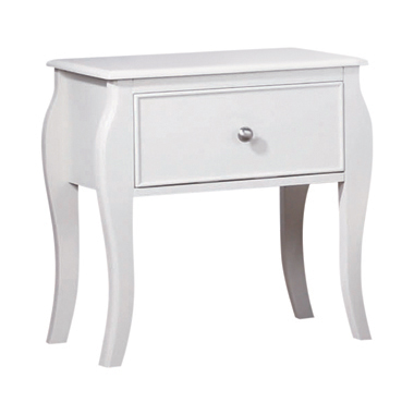 Dominique 1-drawer Nightstand White