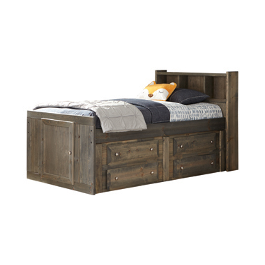 Wrangle Hill Twin Storage Bed Gun Smoke