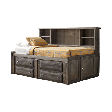 Wrangle Hill Twin Storage Daybed Gun Smoke