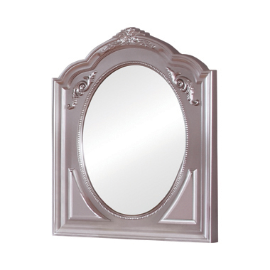 Caroline Framed Mirror Metallic Lilac