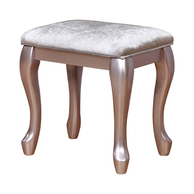 Caroline Vanity Stool White and Metallic Lilac