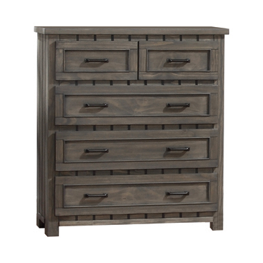 Napoleon 5-drawer Chest with Paneled Design Gunsmoke