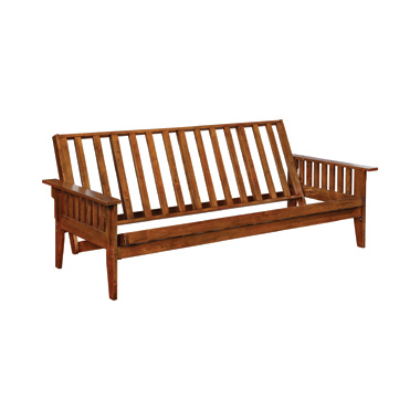 Slat Futon Frame Dirty Oak