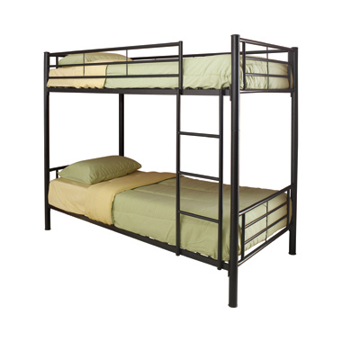 Hayward Twin over Twin Bunk Bed Black