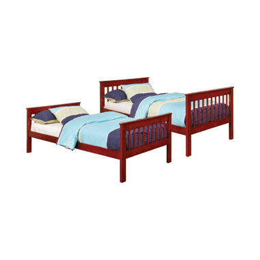 Parker Twin over Twin Bunk Bed Chestnut