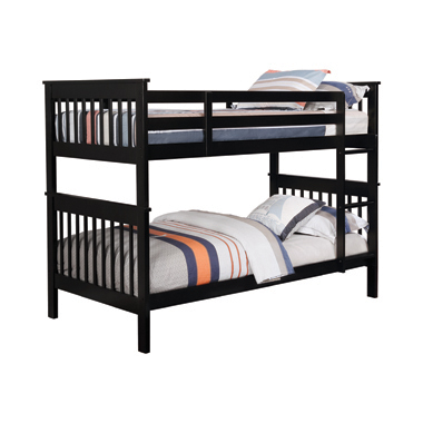 Chapman Twin over Twin Bunk Bed Black
