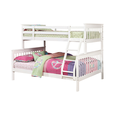 Chapman Twin over Full Bunk Bed White