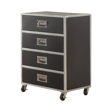 LeClair 4-drawer Chest Black