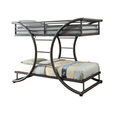 Stephan Twin over Twin Bunk Bed Gunmetal