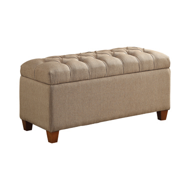 Tufted Storage Bench Taupe
