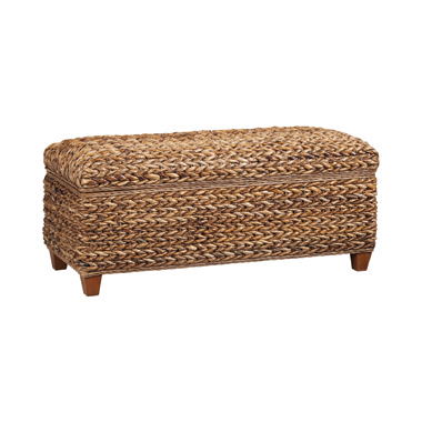Laughton Hand-Woven Storage Trunk Amber
