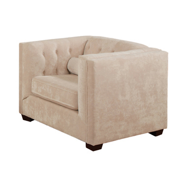 Cairns Tuxedo Arm Tufted Chair Almond