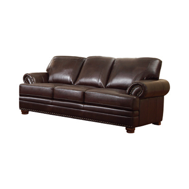 Colton Rolled Arm Upholstered Sofa Brown