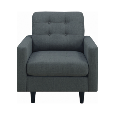 Kesson Tufted Upholstered Chair Charcoal